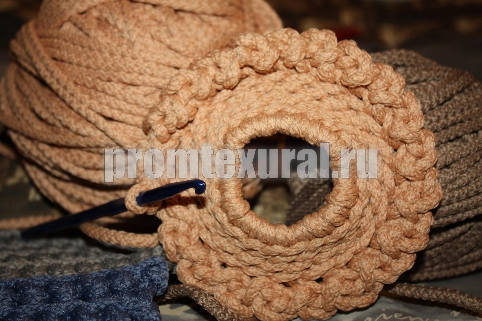 Плетение шнуров из пряжи на вязальной 52