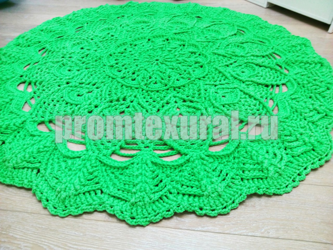Фото вязания ковров крючком