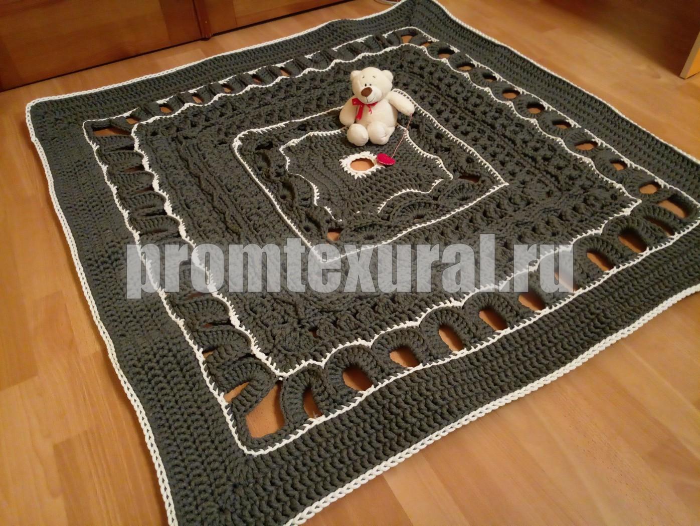 Вязание крючком прямоугольных ковриков 47