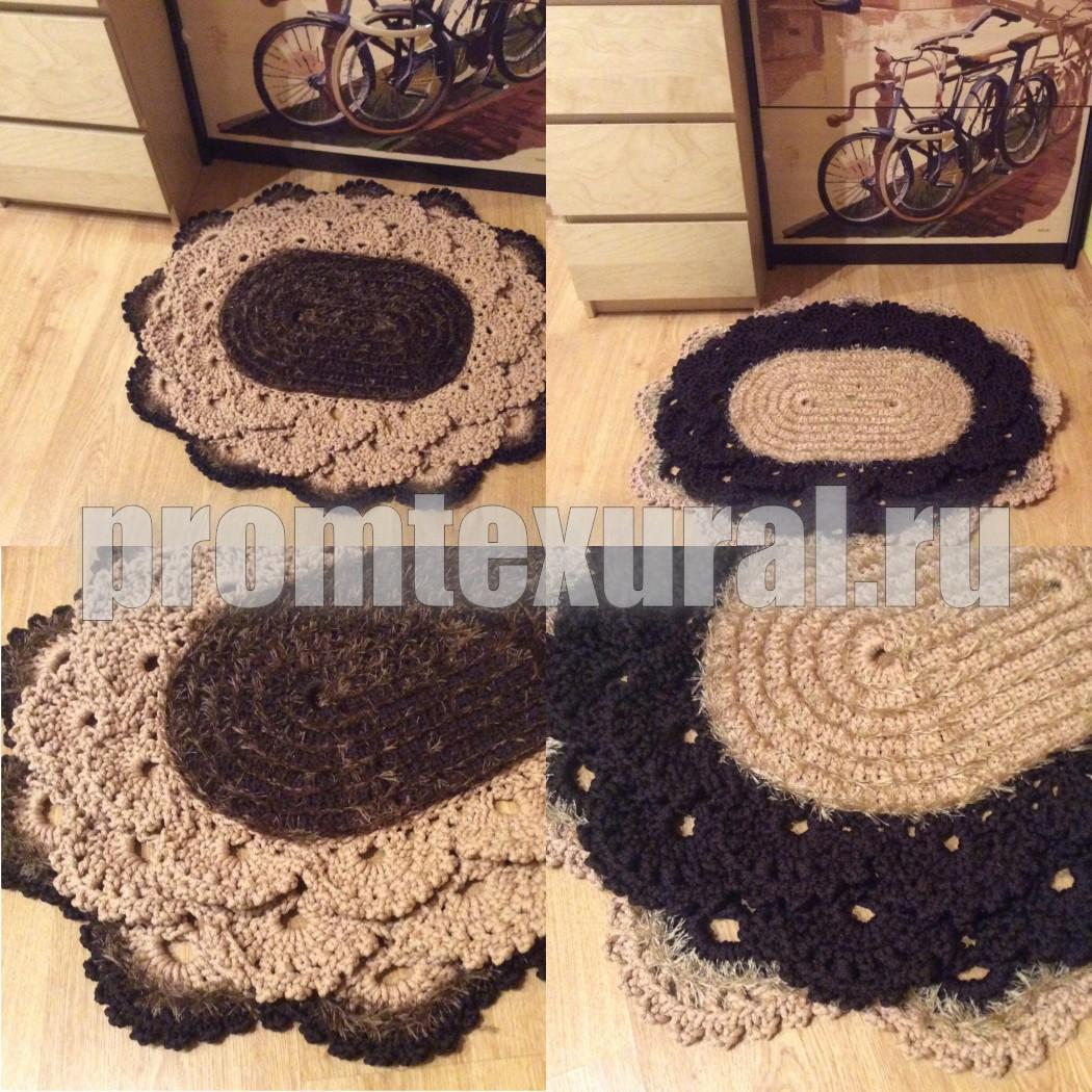 Вязание овальных ковров 74