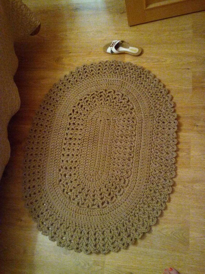 Вязание ковров из шнура крючком схемы фото 478