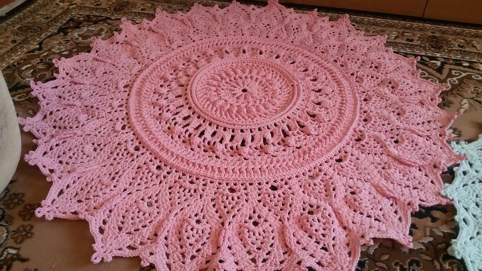 Вязание ковров из шнура крючком схемы фото 118